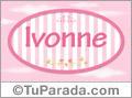Ivonne, nombre para niñas