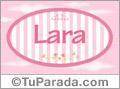 Lara, nombre para niñas
