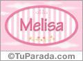Melisa, nombre para niñas