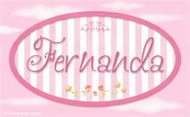 Fernanda, nombre para niñas