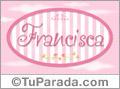 Nombre Nombre Francisca de bebé, para imprimir
