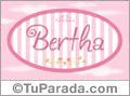 Nombre Nombre Bertha de bebé, para imprimir