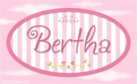 Bertha, nombre para niñas