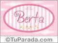 Berta, nombre para niñas