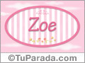 Nombre Nombre Zoe de bebé, para imprimir