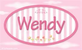 Wendy, nombre para niñas