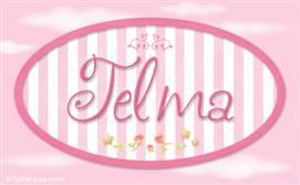Telma, nombre para niñas