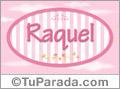 Raquel, nombre para niñas
