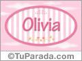 Nombre Nombre Olivia de bebé, para imprimir