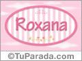 Nombre Nombre Roxana de bebé, para imprimir