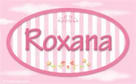 Roxana, nombre para niñas