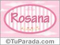 Nombre Nombre Rosana de bebé, para imprimir