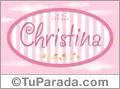 Christina, nombre para niñas