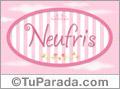 Neufris, nombre para niñas