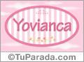 Yovianca, nombre para niñas