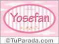 Yosefan, nombre para niñas