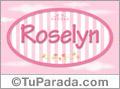 Nombre Nombre Roselyn de bebé, para imprimir