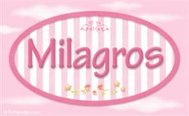 Milagros, nombre para niñas