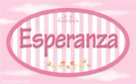 Esperanza, nombre para niñas