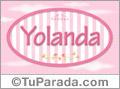 Yolanda, nombre para niñas