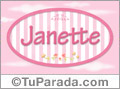 Janette, nombre para niñas