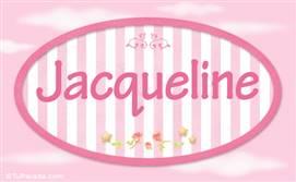 Jacqueline, nombre para niñas