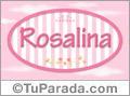 Rosalina, nombre para niñas