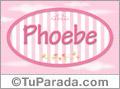 Phoebe, nombre para niñas