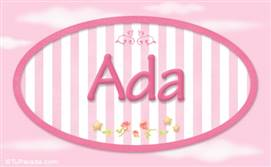 Ada, nombre de bebé de niña