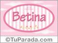Nombre Nombre Betina de bebé, para imprimir