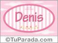 Denis, nombre para niñas