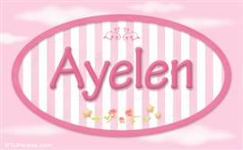 Ayelen, nombre para niñas