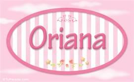 Oriana, nombre para niñas