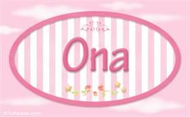 Ona, nombre para niñas