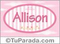 Allison, nombre de niña