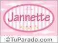 Nombre Nombre Jannette de bebé, para imprimir