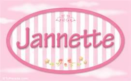 Jannette, nombre para niñas