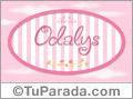 Nombre Nombre Odalys de bebé, para imprimir