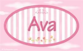 Ava, nombre para niñas