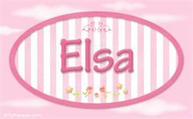 Elsa, nombre para niñas