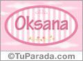 Oksana, nombre para niñas