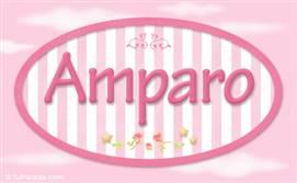 Amparo, nombre de bebé de niña