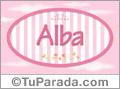 Alba, nombre para niñas
