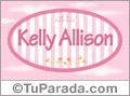 Kelly Allison, nombre para niñas
