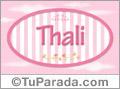 Thali, nombre de niña