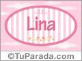 Lina, nombre de niña