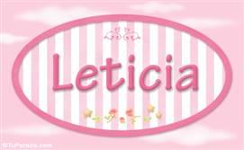 Leticia, nombre de bebé de niña