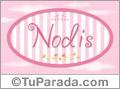 Nombre Nombre Nodis de bebé, para imprimir
