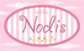 Nodis, nombre de bebé de niña