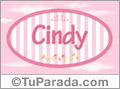Cindy, nombre de bebé de niña